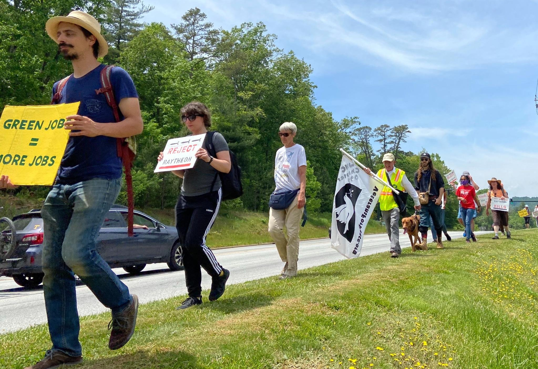 'Honk for humane jobs': NC activists challenge subsidies for weapons maker